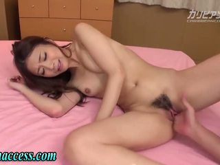 Japonesa gaja squirts depois masturbação feminina