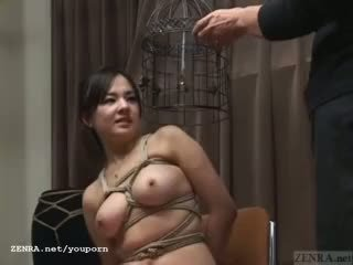 Subtitled giapponese cmnf sadomaso nose hook bird gabbia giocare
