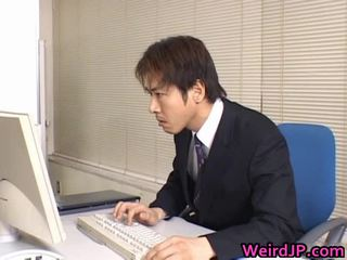Cute Asian Secretary Drilled