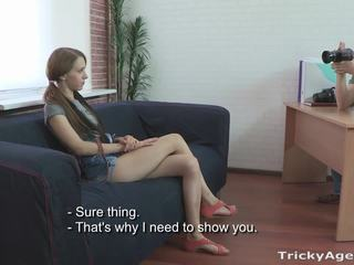 Tricky Agent A skinny redhead is eager to be fuc