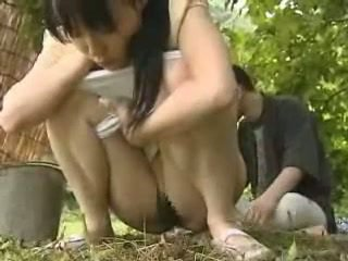 Japanese Girl Fucked Outside