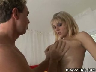 Eve Lawrence Bows Down Her Head And Takes A Hard Meat Dick On Her Mouth