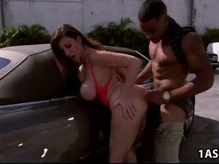 Autó mosás -val kövér segg érett sara jay