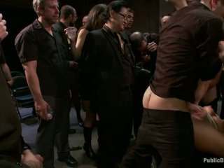 Ass fucked in front of the crowd