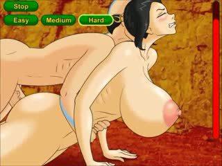 Avatar dominates the princess with big boobies