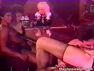 Bigtitted woman bump in a night bar