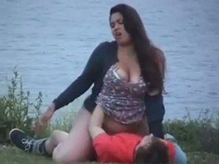 อวบ 20yr เก่า ร่วมเพศ ที่ the lake