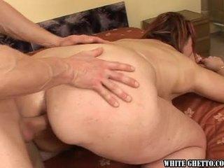 brunette, bbw, anal sex