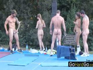 hq seks grupowy, wielkie cycki zabawa, doggystyle