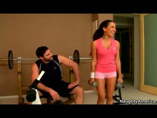 Amia Miley banged in the gym