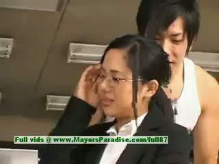 Sora aoi innocent палав азиатки секретар enjoys getting