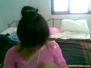 Hinduskie żona stripping w dół i getting fucked