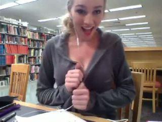 Hottest Library Masturbator You'l...