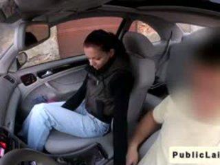 Student gives blowjob im fake taxi im öffentlich