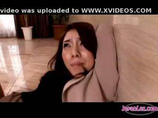 아시아의 소녀 에 팬티 스타킹 getting 그녀의 arms tied 고양이 fingered