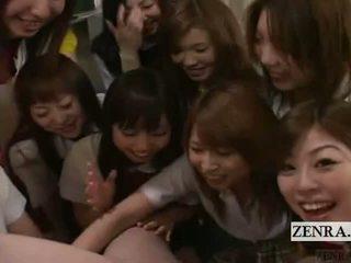 Subtitled 衣女裸体男 pov 日本语 女学生 组 阴茎 玩