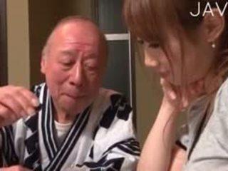 japansk, baben, gamla + young