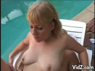 Barbara Summer dped by the Pool Nature
