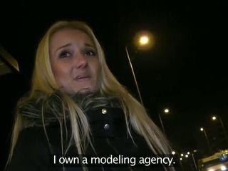 Blonde sucking dick in basement of public building