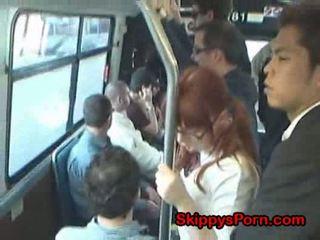 Jepang murid wedok finger fucked on bis