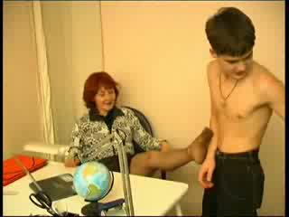 Russian teacher having sex with young boy Video