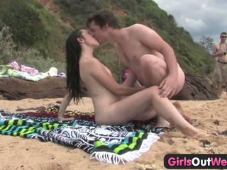 swingers, beach, public nudity