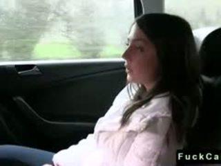 Cute Euroepan Brunette Student Fuck In Fake Taxi