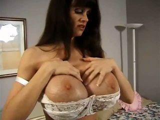 Dirty chick with giant melons teasing