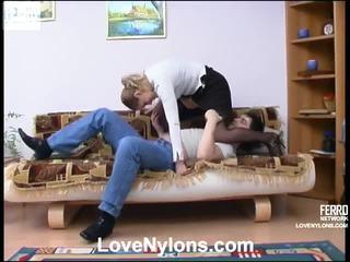 Susanna And Adam Lewd Pantyhose Movie