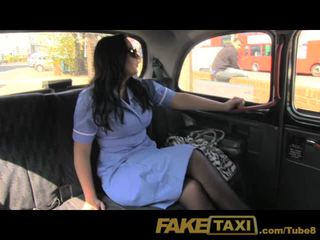 FakeTaxi Horny nurse loves a big cock