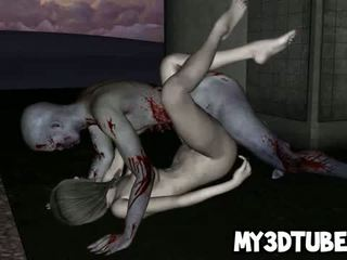 Hot 3D Zombie Babe Getting Licked And Fucked Hard