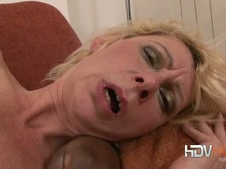 Blonde mature nailed in the ass by big...
