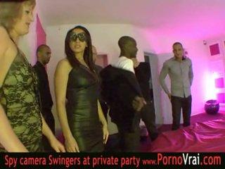 Francesa swinger fiesta en un privado discoteca parte 03