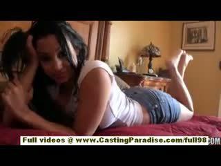 Abella anderson nghiệp dư latina thiếu niên cô gái với to ass doing đòn