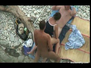 偷窺, 海灘, hot nudism