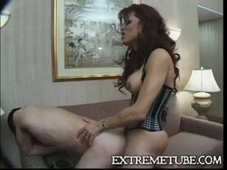 Lingeried ts milf fucks o guy