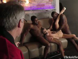 Young bojo does cuckold 3sum for the old man - porno video 051