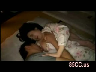 Wife fucked by husbands friend on the bed 05