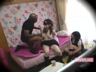 japanese, interracial, threesome
