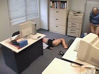 Molested spanje pisarna lady