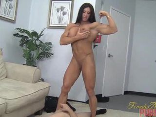 muscle, humiliation, female