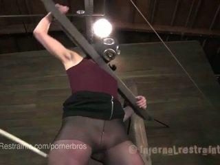 brunette, fucking machine, pee, bdsm, pornstars, caning