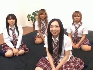 japansk, asiatiska tjejer, skol