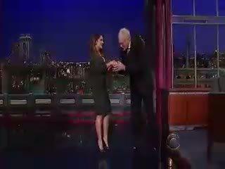Salma Hayek Letterman Show
