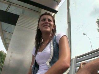 Czech slut banged near the tram station