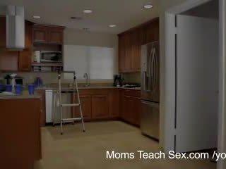 Moms Teach Sex - Her boyfriend jizzed on her step moms tits