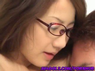 E prapë aziatike zyrë zonjë rina hasegawa gets banged i vështirë në the pushim dhomë