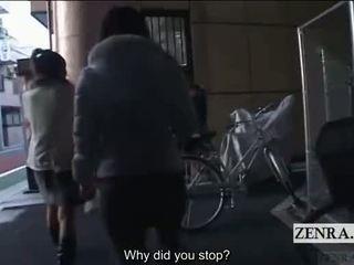 Subtitled fou public japonais travestisme dominatrice