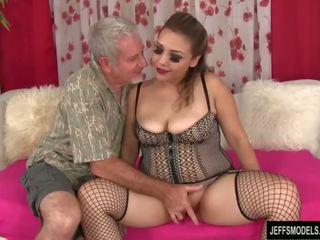 Seksi debelušne punca gets zajebal in prihajanje v usta