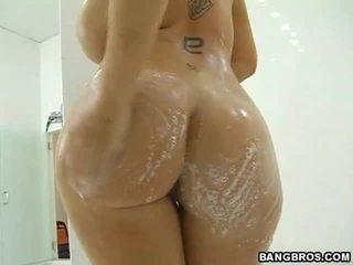 하드 코어 섹스, 큰 가슴, 샤워
